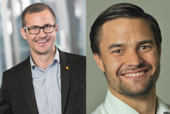 Jimmy Ek,  f�rs�ljningschef f�r Axis i Norden och Carl Sta�l von Holstein, som utsetts till Key Account Manager f�r Axis i Sverige.