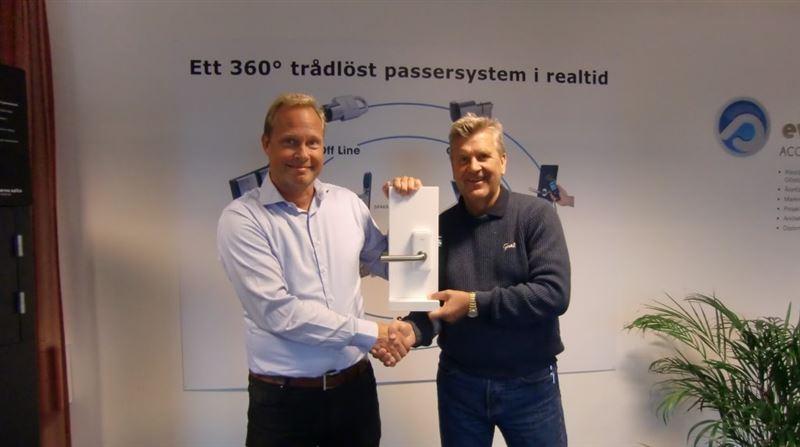 Peter Junhem, Produktchef Copiax och Anders Karlemark, VD Evvasalto Access