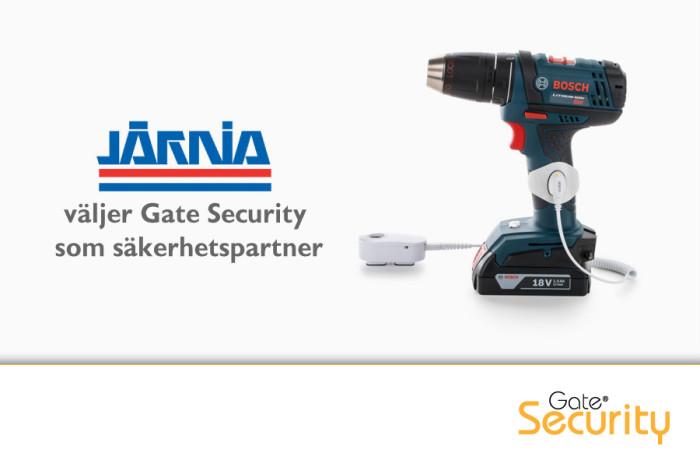 Gate Security forts�tter att leverera varularm och andra s�kerhetsprodukter till J�rnias butiker.