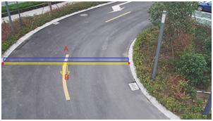 Korsa-linjen-detektion �r en funktion i de uppgraderade kamerorna.