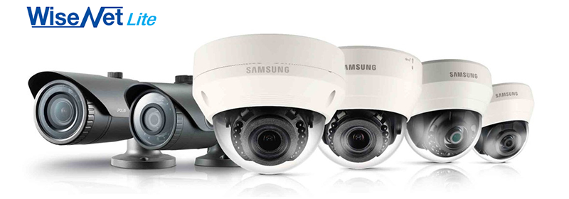 Wisenet Lite-serien erbjuder ett brett sortiment av b�de inom- och utomhuskameror.