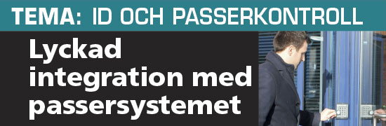 Lyckad integration  med passersystemet